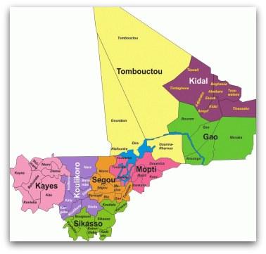 Carte administrative du Mali