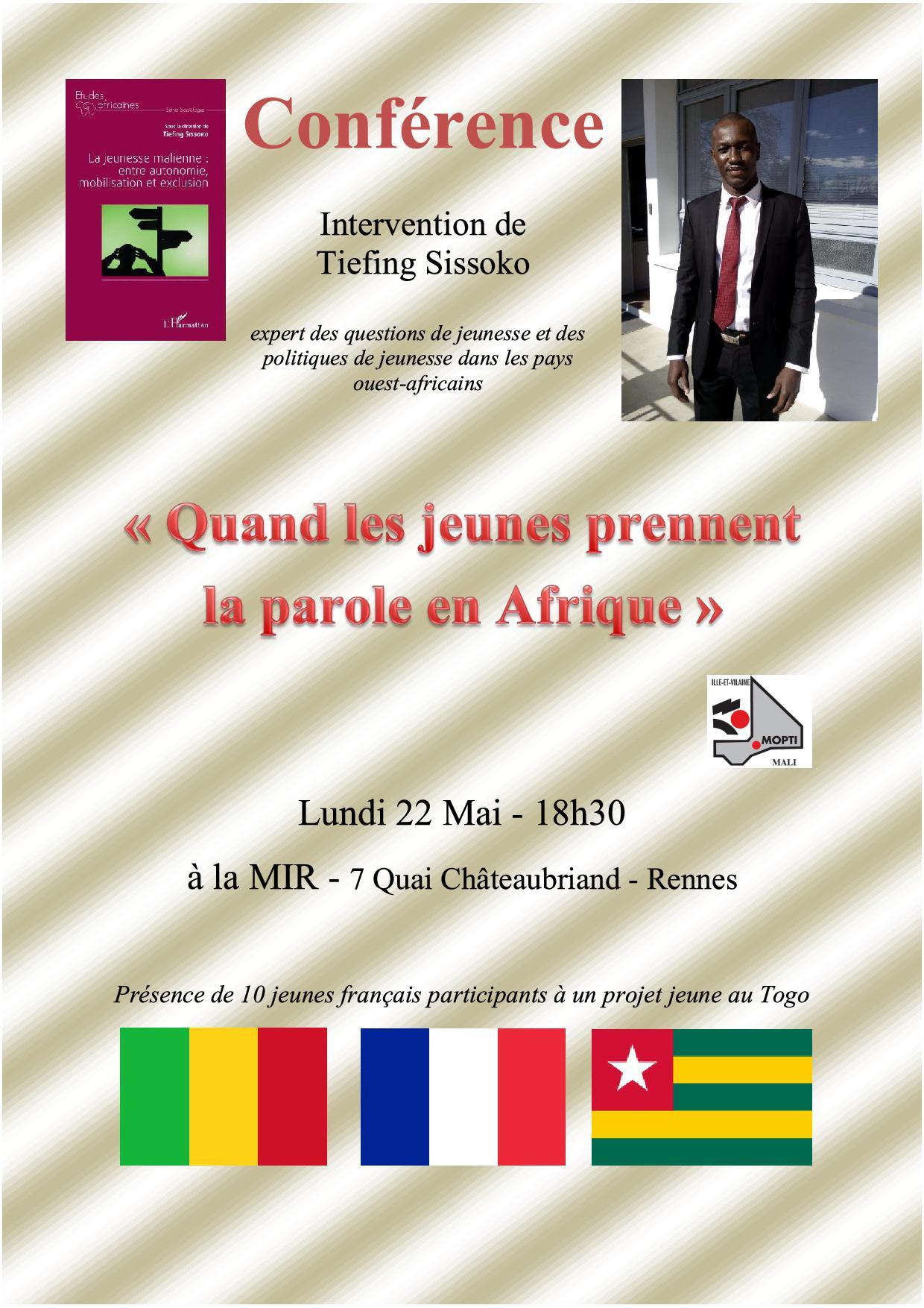 Affiche Conférence Jeunesse Malienne