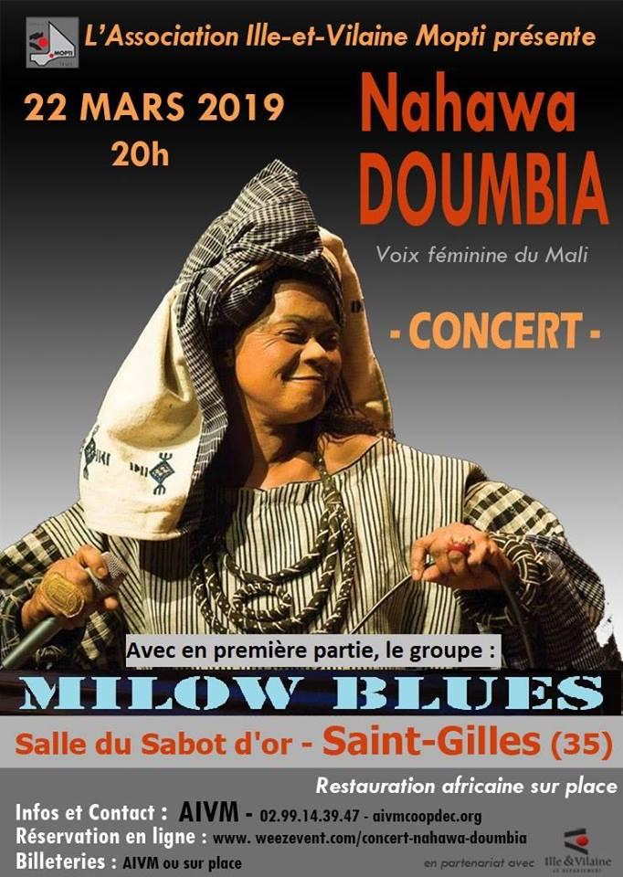 Affiche Concert Nahawa Doumbia St Gilles Sabot D'or