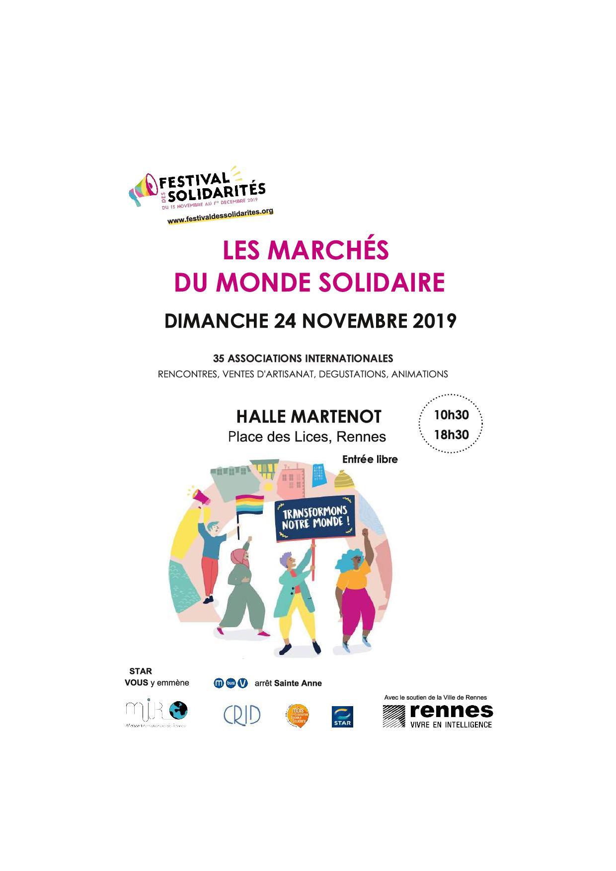 Marchés Du Monde Rennes 22/11 Halle Martenot
